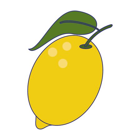 Lemon fruit fresh food isolated vector illustration graphic design  イラスト・ベクター素材