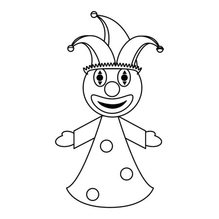 Clown puppet cartoon isolated Design