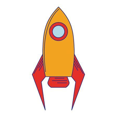 Rocket spaceship symbol isolated vector illustration graphic design Ilustração
