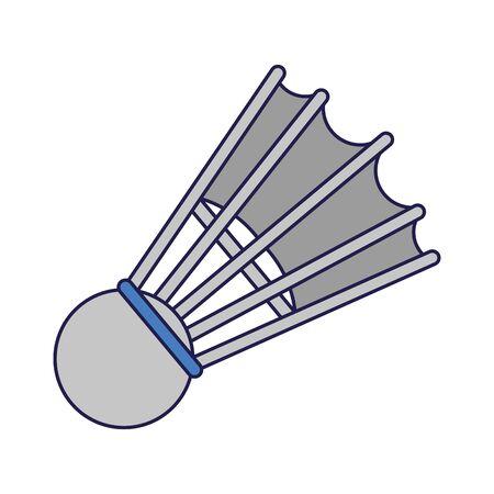 Sport badminton ball isolated Design