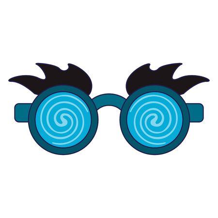 Glasses and eyes brows joke mask Design
