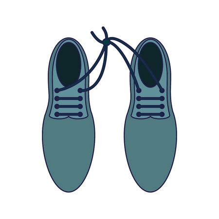Elegant male shoes topview Design Ilustração