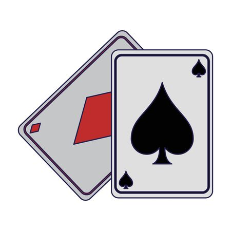 Poker cards isolated Design