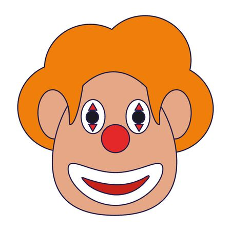 Clown face smiling with make up Design