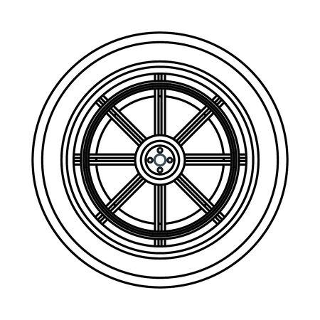 car service part wheel cartoon vector illustration graphic design Иллюстрация