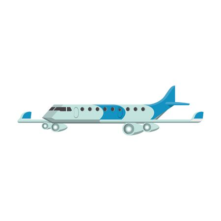 Jet airplane aircraft sideview isolated Illustration