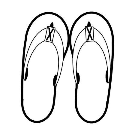 Flip flops sandals footwear isolated cartoon vector illustration graphic design