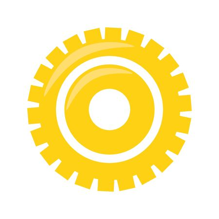 Gear machinery piece symbol isolated illustration editable image