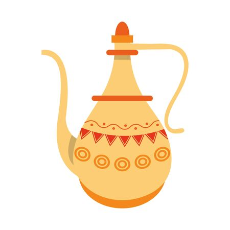 indian traditional teapot icon cartoon vector illustration graphic design