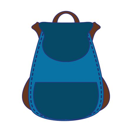 Backpack school accesory isolated cartoon vector illustration graphic design