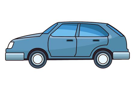 Modern coupe car vehicle sideview vector illustration graphic design. Иллюстрация