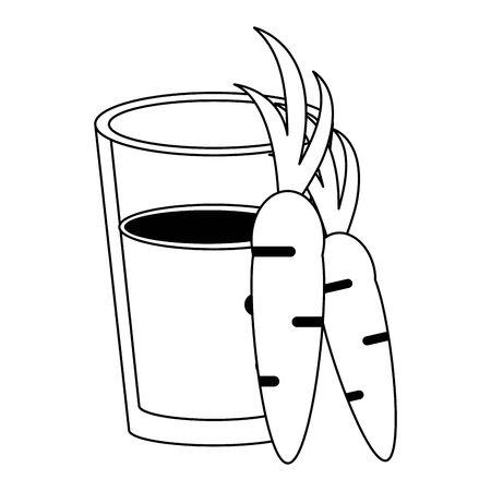 healthy drink juice carrot nature glass cartoon vector illustration graphic design Çizim