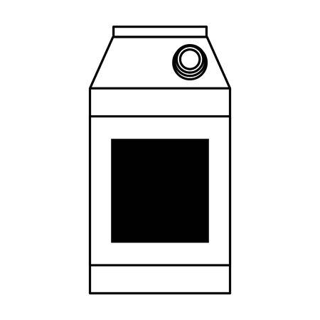 milk drink cardboard box isolated cartoon vector illustration graphic design