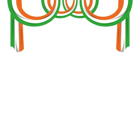 indian flag hanging decorating frame icon cartoon vector illustration graphic design