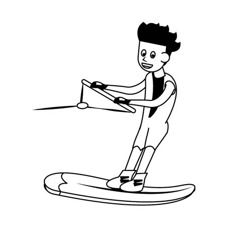 Water extreme sport cartoon isolated vector illustration graphic design
