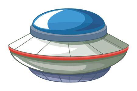 space exploration flying saucer icon cartoon vector illustration graphic design 矢量图像