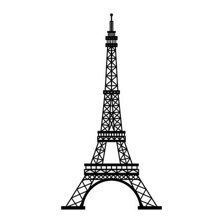 Eiffel tower paris monument isolated vector illustration graphic design