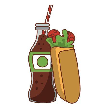 Wrap with soda bottle food vector illustration graphic design Illustration