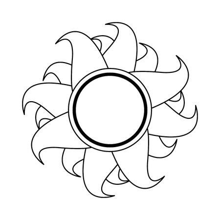 Sun summer cartoon isolated symbol vector illustration graphic design Иллюстрация