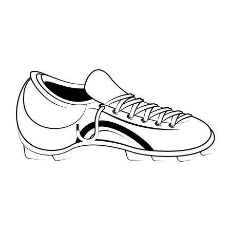 Soccer football boot footwear equipment vector illustration graphic design