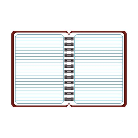 blank notepad open symbol isolated