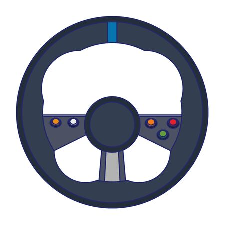 Video Game steering wheel console controller isolated vector illustration graphic design
