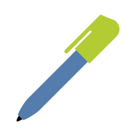 Pen office utensil isolated vector illustration graphic design