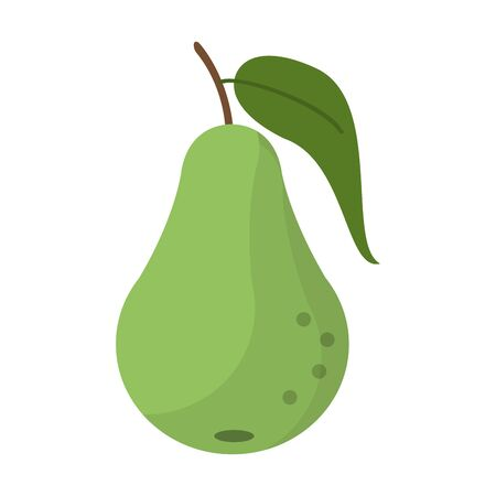 Pear fruit fresh food isolated vector illustration graphic design