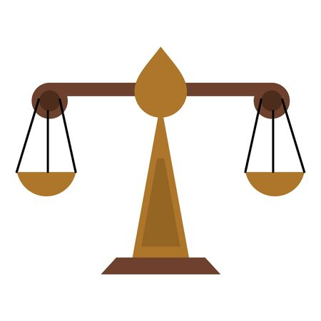 Justice balance symbol isolated vector illustration graphic design Stock Illustratie