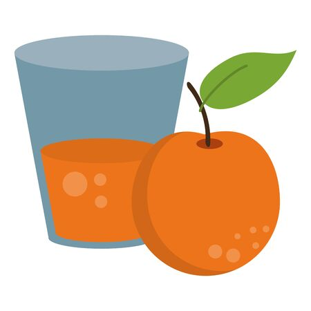 Orange juice cup with fruit vector illustration graphic design Фото со стока - 130809959