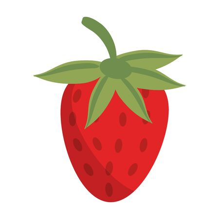 Strawberry fruit fresh food isolated vector illustration graphic design Иллюстрация