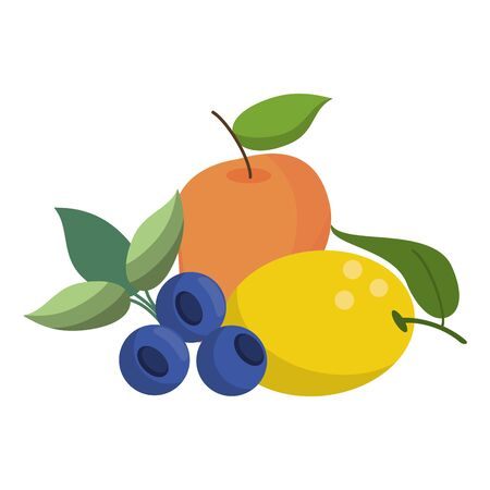 fruits healthy and fresh food vector illustration graphic design Фото со стока - 130809968