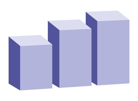 Isometric statistics bars graphic symbol ,vector illustration graphic design.
