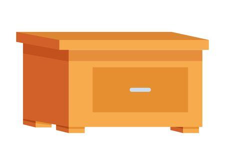 wooden drawer office decoration cartoon ,vector illustration graphic design.