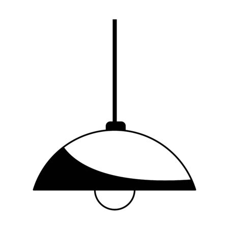 roof hanging light lamp cartoon ,vector illustration graphic design.