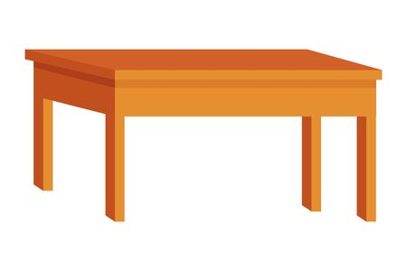 Office wooden desk furniture cartoon ,vector illustration graphic design. Иллюстрация