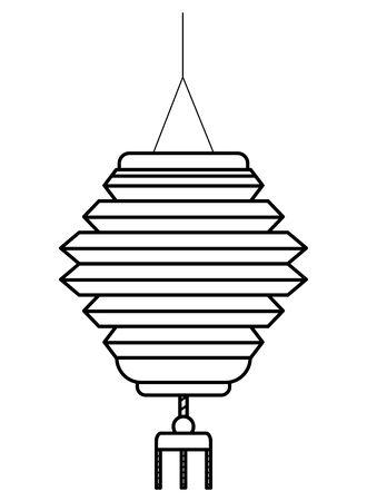 Chinese paper lantern hanging light ,vector illustration graphic design. Ilustrace