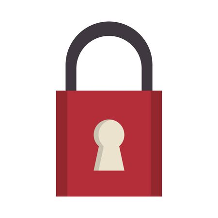 security padlock safety sign cartoon vector illustration graphic design  イラスト・ベクター素材
