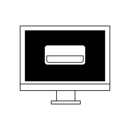 technology hardware digital device computer cartoon vector illustration graphic design