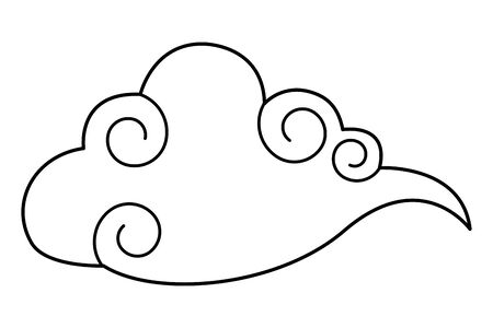 Cloud wather cartoon symbol isolated ,vector illustration graphic design.