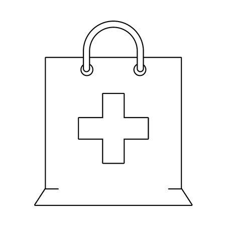cannabis martihuana medical marijuana medicine sativa hemp box cartoon vector illustration graphic design