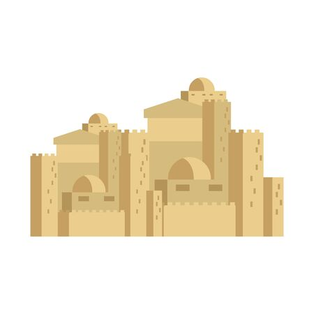 Illustration of an ancient building in Bethlehem