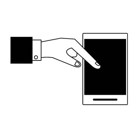 technology hardware smartphone device cartoon vector illustration graphic design Ilustração
