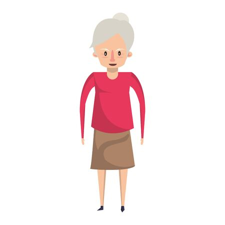 grandparent senior old retirement grandmother cartoon vector illustration graphic design