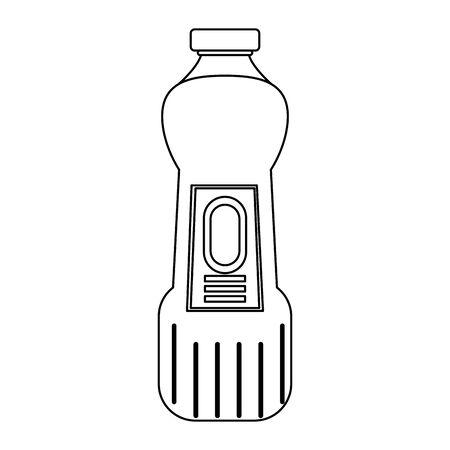 Disinfectant soap bottles with dispenser isoalted symbol vector illustration graphic design. 스톡 콘텐츠 - 130150836