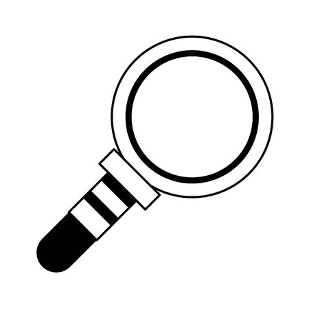 magnifying glass lab len cartoon vector illustration graphic design