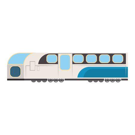 Train public transport isolated symbol Иллюстрация