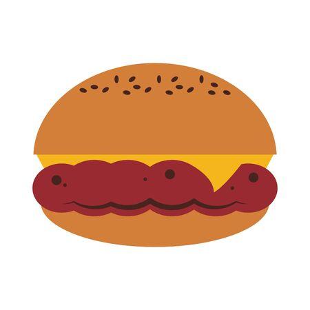 Fast food hamburger with cheese vector illustration graphic design  イラスト・ベクター素材