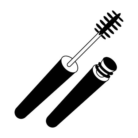 Make up mascara with brush product vector illustration graphic design