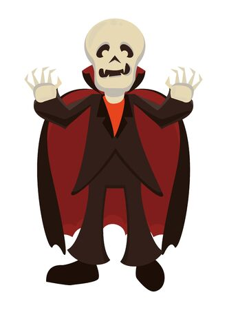 funny costume of dracula halloween character vector illustration design